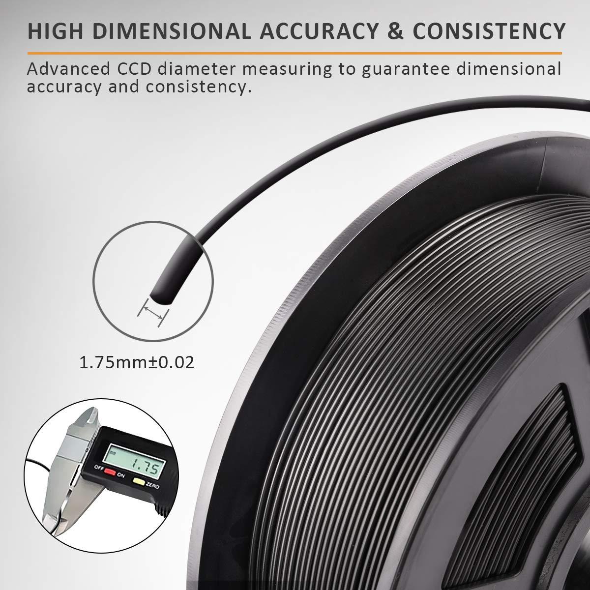 SUNLU Filamento ABS 1.75 Stampante 3D ABS Filamento 1kg Spool Tolleranza del diametro 0,02 mm,ABS Bianco //