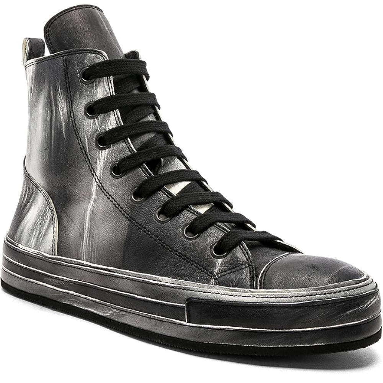 (アンドゥムルメステール) Ann Demeulemeester メンズ シューズ靴 スニーカー Leather Hi-Top Sneakers [並行輸入品] B07F7BPVV8