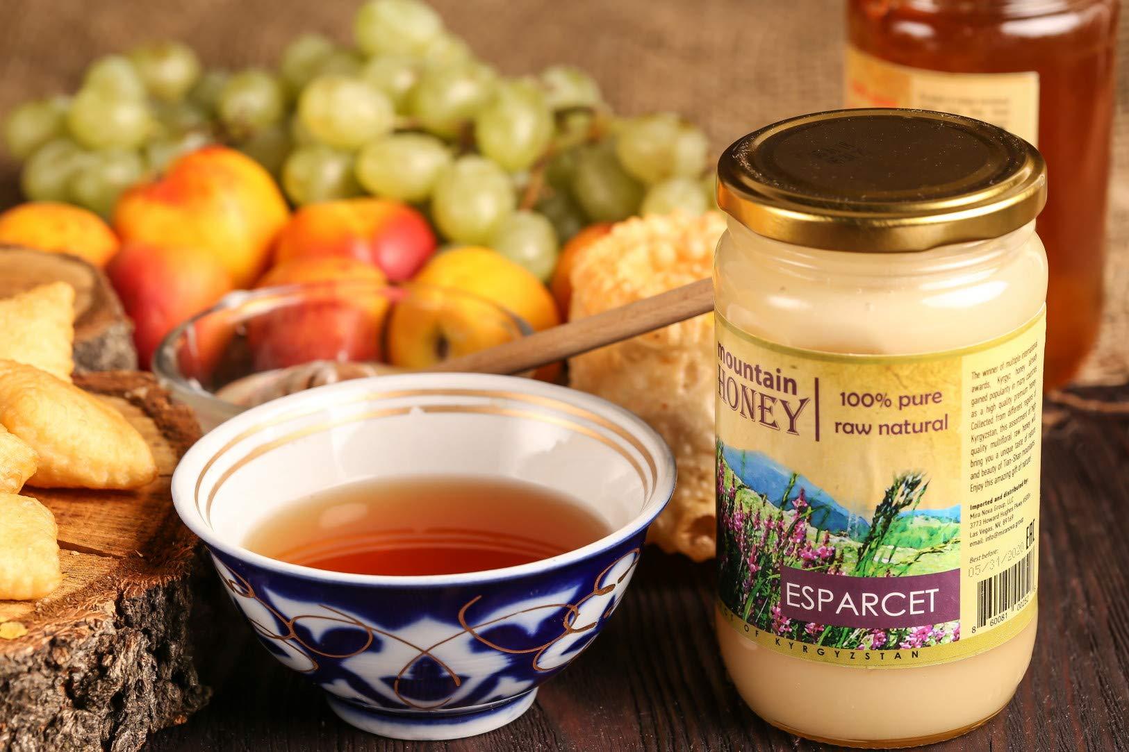 Kyrgyz Honey; Esparcet Raw Natural Sainfoin Mountain Honey; 17.63 Ounce Glass Jar by Mira Nova (Image #4)