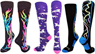 product image for MadSportsStuff Softball Socks with Flames - for Girls or Boys Women or Men