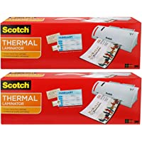 """Scotch Thermal Laminator Combo Pack, Includes 20 Letter-Size Laminating Pouches, Holds Sheets up to 8.9"""" x 11(TL902VP…"""
