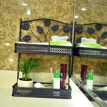 cuarto de baño estante de baño accesorios/Forja pared del ...