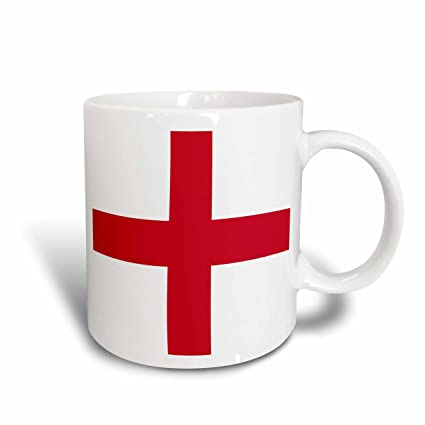 bf2aee50 Amazon.com: 3dRose Flag of England, Red St. Georges Cross on White ...
