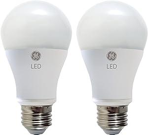 GE Lighting 25037 LED 11-Watt (60-watt replacement), 800-Lumen A19 Bulb with Medium Base, Soft White, 2-Pack