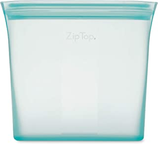 product image for Zip Top Reusable 100% Silicone Reusable Food Storage Bag and Container - Sandwich Bag - Teal