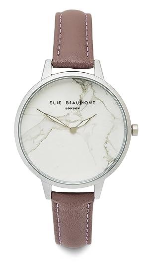 Elie Beaumont Richmond EB812 Reloj analógico de cuarzo para mujer, con esfera de mármol y