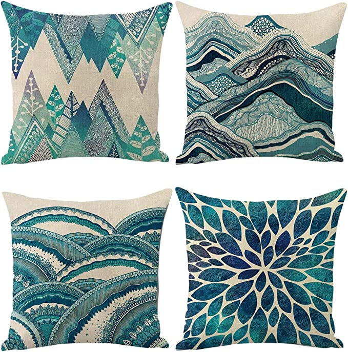 "2Pcs Gold Cushion Covers Pillows Case Shell Damask Floral Sofa Home Decor 18x18/"""