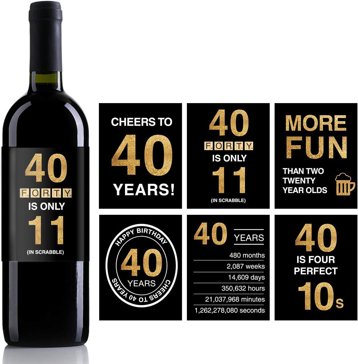 Amazon.com: Etiquetas adhesivas para botella de vino de 40 ...