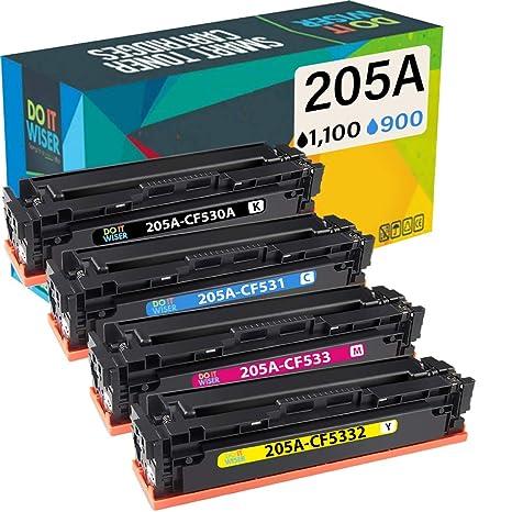 Do it Wiser- Cartuchos de Tóner CF530A 205A Compatibles para Usar ...