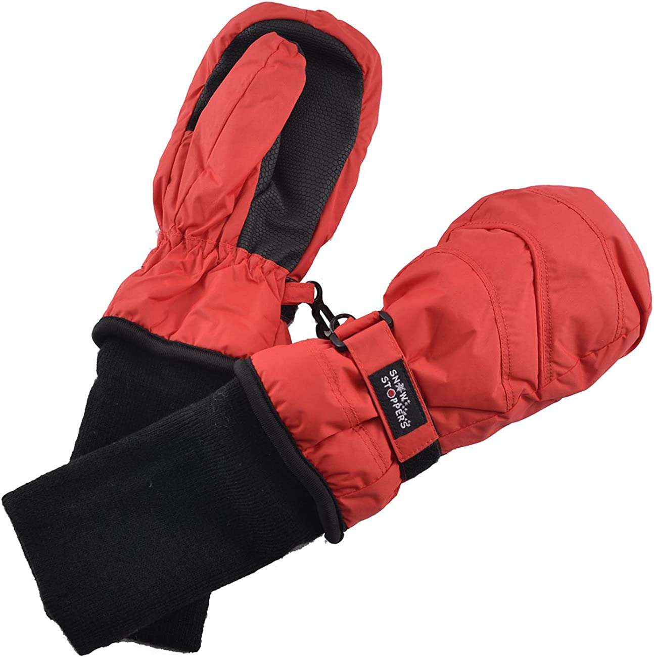 Chakka Snowblokka TM Kids Snow Mittens Waterproof Nylon Great for Ski /& Snowboard and Made with 3m Thinsulate and Extra Long Sleeve Foldable Cover Up