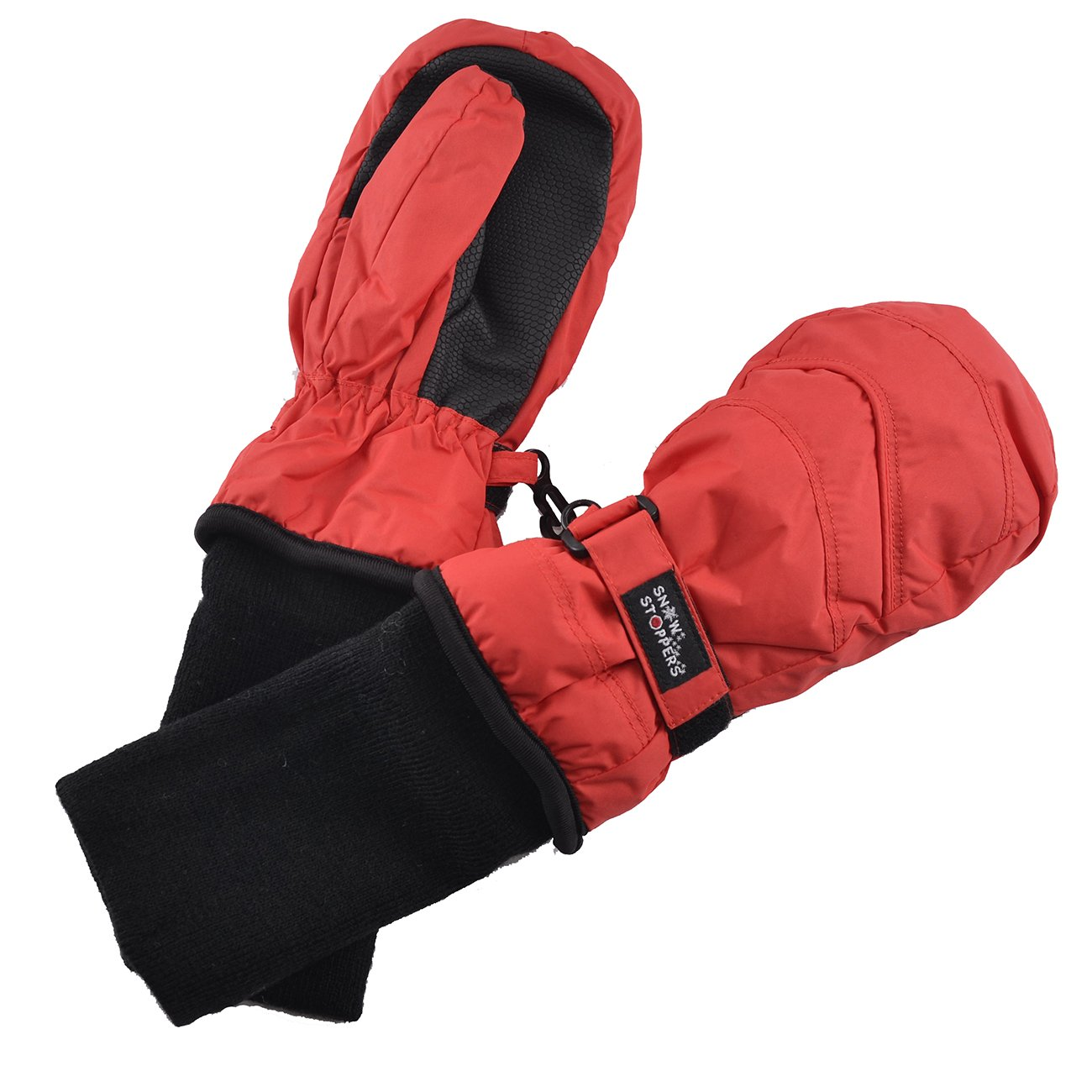 SnowStoppers Kid's Waterproof Stay On Winter Nylon Mittens Small / 1-3 Years Red