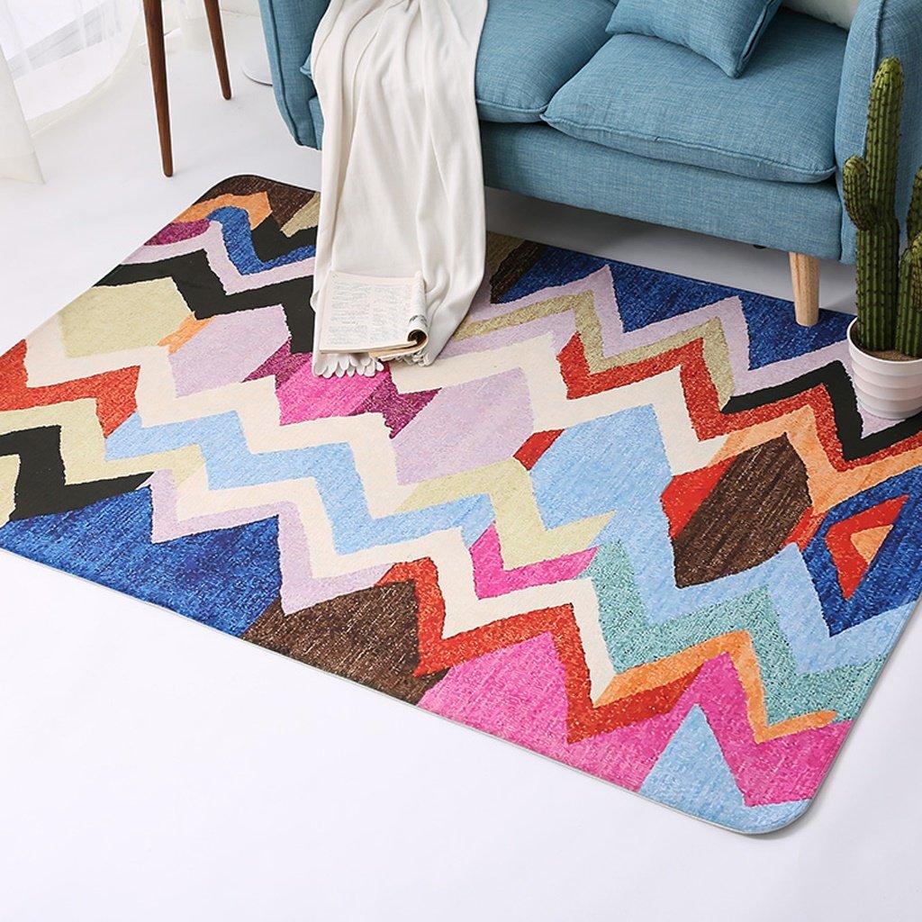 カーペット寝室居間近代的なミニマリストの四角い色の幾何学的な敷物 ( サイズ さいず : 150*200cm ) 150*200cm  B077WFB93T