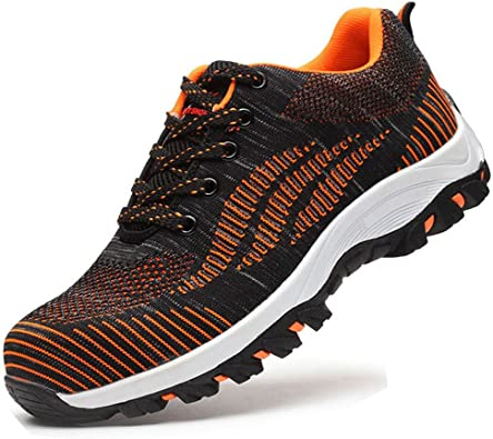 Calzado de Trabajo Hombre Mujer Zapatillas de Seguridad con Punta de Acero Calzado de Trabajo Antideslizante Comodo: Amazon.es: Zapatos y complementos