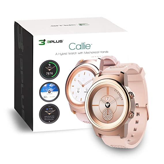 3Plus Callie Hybrid SmartWatch for Women, 30+ Day Battery | Heart Rate Monitor, Pedometer, TFT Vibrant Display, Sleep Tracker, Calorie/Step Counter, ...