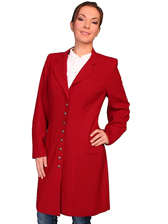 Vintage Coats & Jackets | Retro Coats and Jackets Scully Wahmaker Womens Crepe Wool Frock Coat $226.00 AT vintagedancer.com