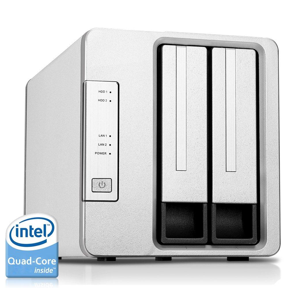 TerraMaster F2-420 NAS Server 2-Bay Intel Quad Core 2.0GHz 4GB RAM Network RAID Storage for Small/Medium Business (Diskless) by TerraMaster (Image #1)