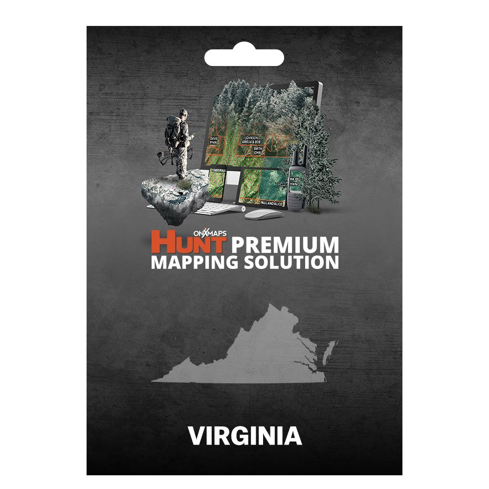 onXmaps HUNT Virginia: Digital Hunting Map For Garmin GPS + Premium Membership For Smartphone and Computer - Color Coded Land Ownership - 24k Topo - Hunting Specific Data