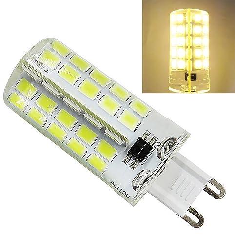 6 Pack, G9 LED Bulb Dimmable 110V AC 5W 520 Lumens 40W Halogen Bulb ...