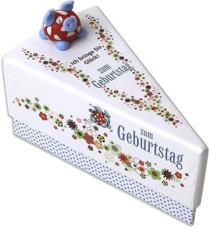 1 Caja Regalo Dinero regalo regalos pequeños para tarta de cumpleaños unidades aprox. 9 x 11,5 x 6,5 cm: Amazon.es: Oficina y papelería