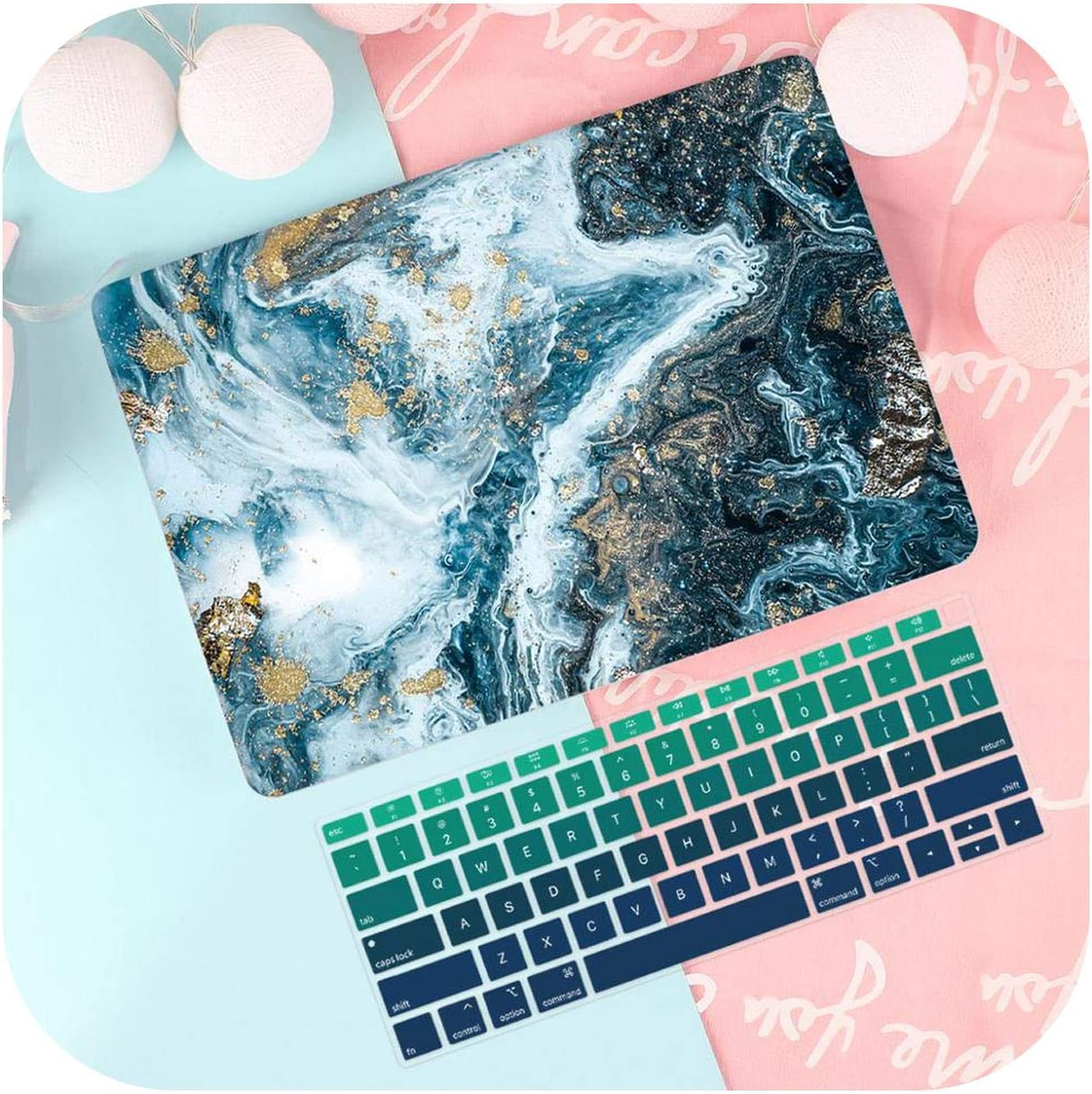 Keyboard Cover-Rs870-Model A1708 New Print Case for MacBook Air Pro Retina 11 12 13.3 for New Mac Book 13 15 Touch Bar 2019 A1932 A2159 A1707 A1990