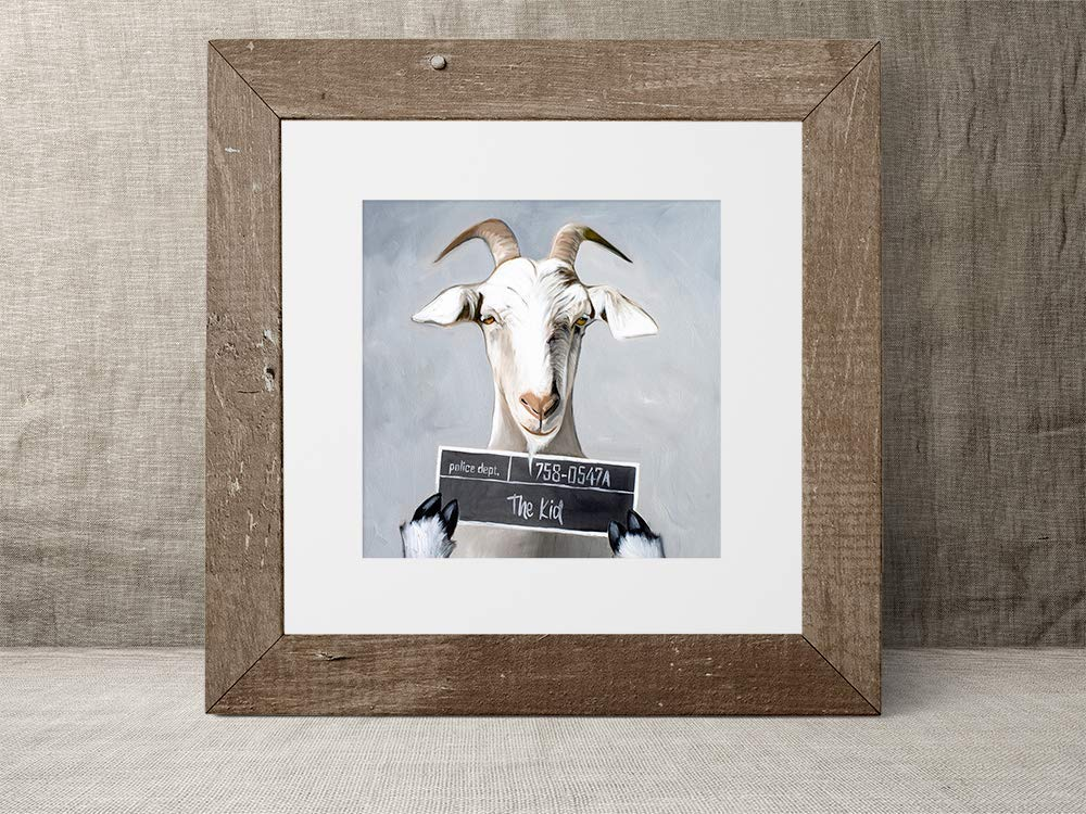 Canvas Print Poster Wall Art or Billy the Kid Goat Funny Oil Painting Paper