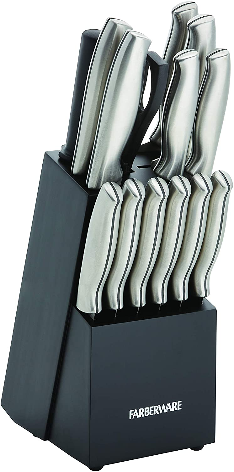Best (less-expensive) kitchen-knife set with stainless-steel handles