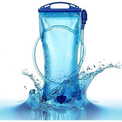 VENTCY vejiga de hidratación 2L/3L Bolsa de Agua de vejiga sin BPA vejiga de hidratación para Mochila de Senderismo Bolsa de hidratación para Acampar al Aire Libre Senderismo Ciclismo Correr Azul
