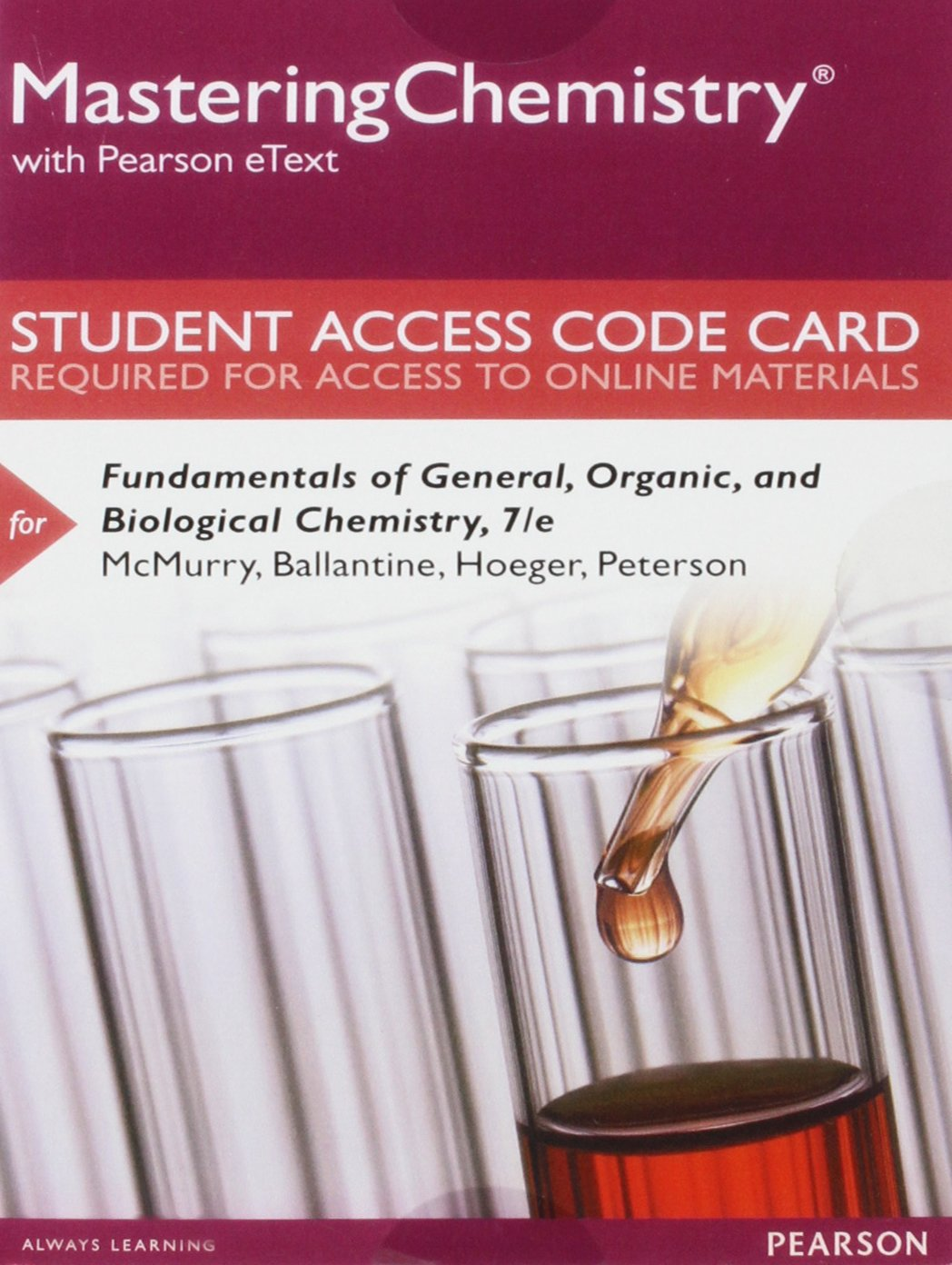 Amazon.com: MasteringChemistry with Pearson eText -- Standalone Access Card  -- for Fundamentals of General, Organic, and Biological Chemistry (7th  Edition) ...