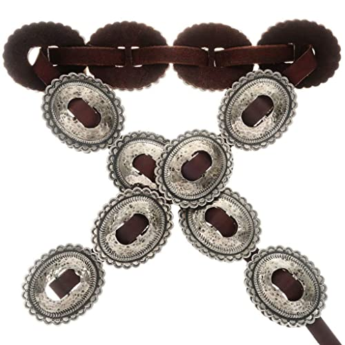 Amazon Hand Hammered Silver Concho Belt Navajo First