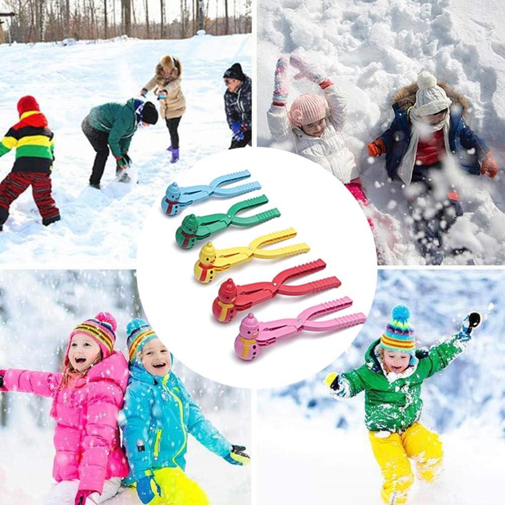 Bonhomme de neige amusant /à pince pour enfants Sports de plein air Combat de neige Jouet al/éatoire