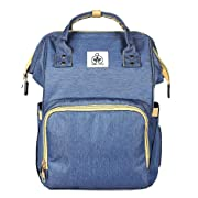 Diaper Backpack Diaper Bag for Mom Dad, Nappy Tote for Women & Men, Multi-Function Waterproof Toddler Bag for Baby Travel Backpack Care-Bag,Large Capacity,Easy-to-Carry, Stylish & Durable, Blue