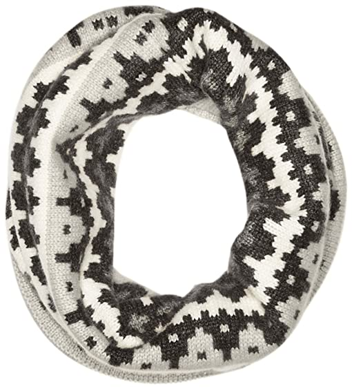 Sofia Cashmere Women's 100 Percent Cashmere Graphic Fairisle Snood ...