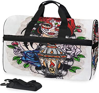 Unisex Travel Duffels Gym Bag Black Cat Eiffel Tower Canvas Weekender Bag Shoulder Bag Totes bags