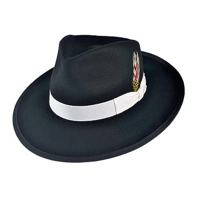 Jaxon Made in The USA - Classics Zoot Wool Felt Fedora Hat at Amazon ... 1d2f0f518e4