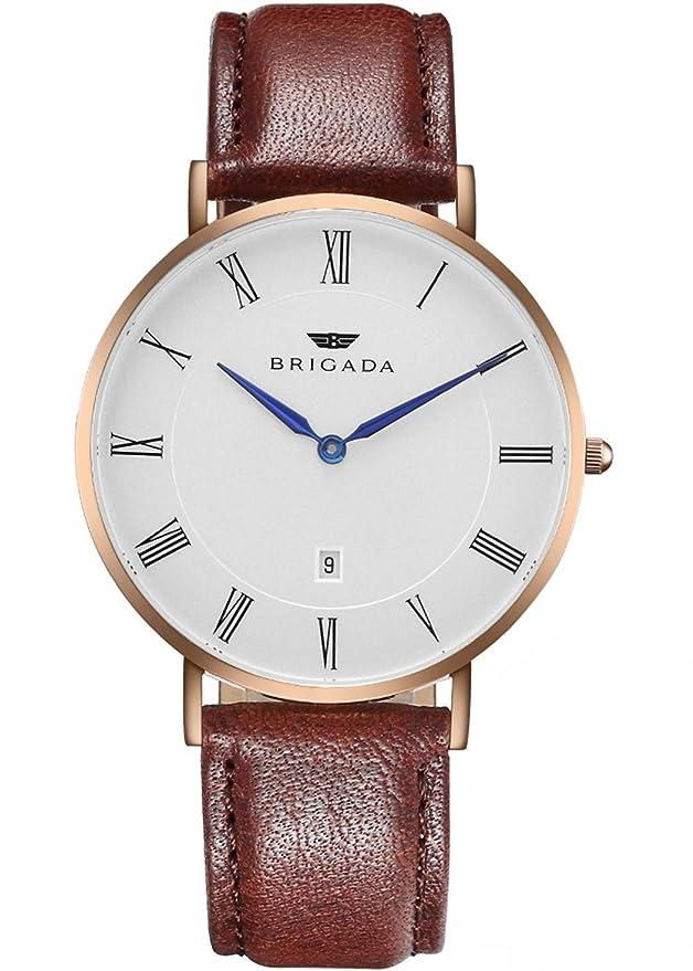 BRIGADA - Relojes de suizos para hombre y mujer, minimalista ...
