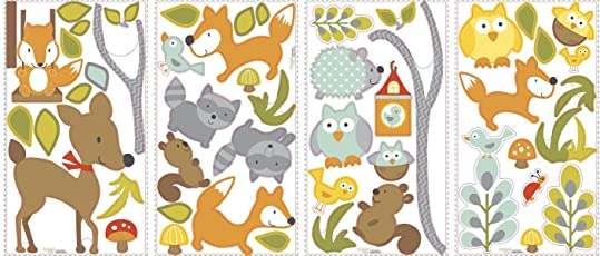 RoomMates RMK2768SCS Woodland Fox and Friends Peel and Stick Wall Decals