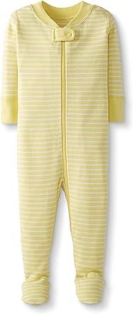 Moon and Back de Hanna Andersson - Pijama de una pieza con pies hecho de algodón orgánico para bebé, Amarillo (yellow stripe), 3 años (87-97 CM): Amazon.es: Ropa y accesorios