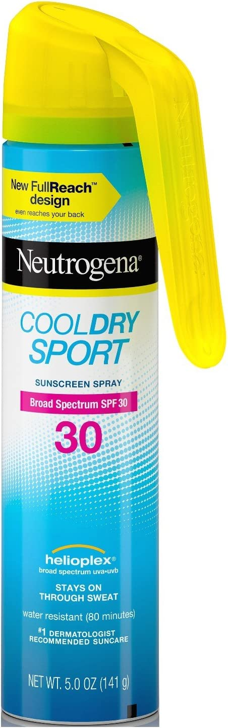 Neutrogena Cool Dry Spf#30 Sport Full Reach Spray 5 Ounce (148ml) (2 Pack)