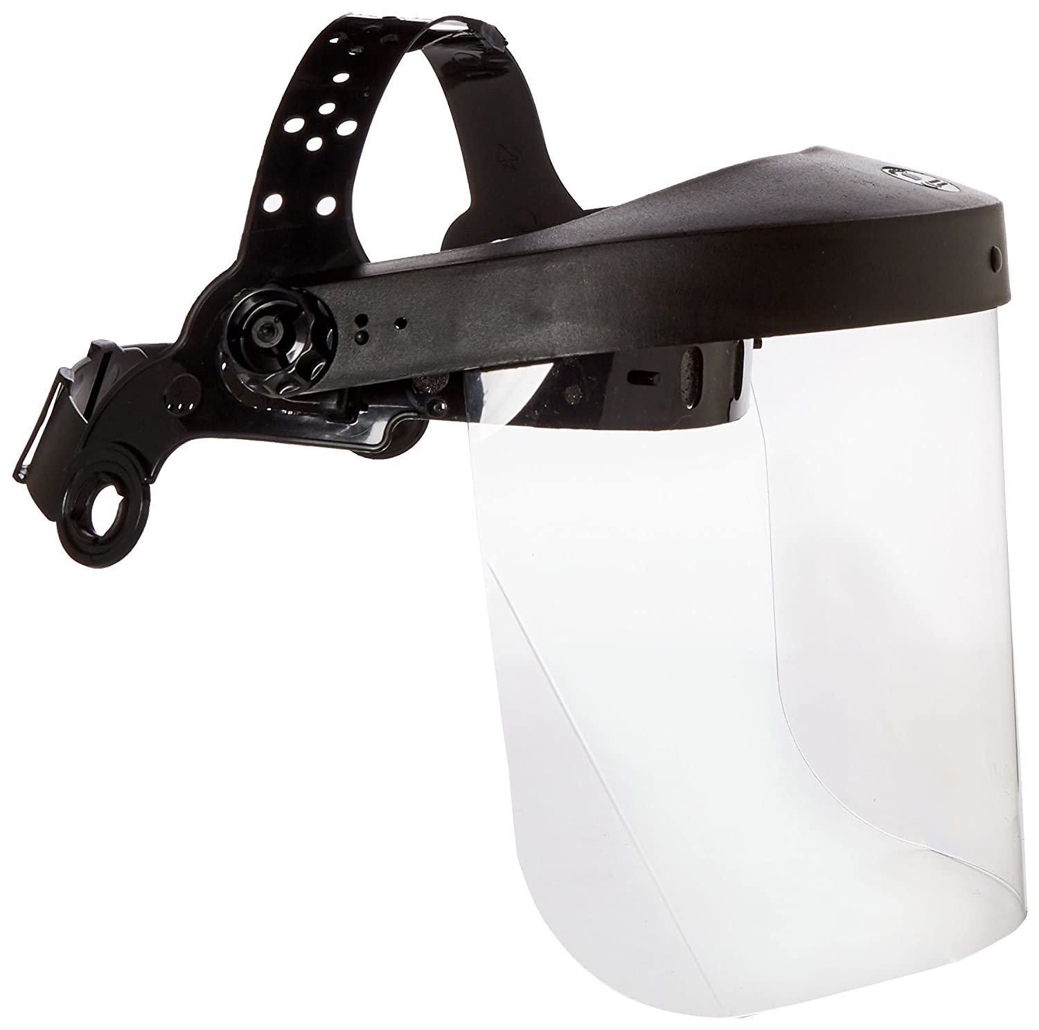 Neiko 53819A Safety Headgear Face Shield with Visor Clear Polycarbonate One Size Black