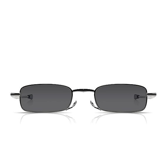 014388d0c4a62 Read Optics Deux Paires Lunettes de lecture compactes  Lecteurs de blocage  UV pour hommes et femmes avec étui rigide. Taille de poche pliable.