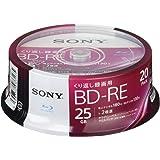 SONY ビデオ用ブルーレイディスク 20BNE1VJPP2(BD-RE1層:2倍速 20枚パック)