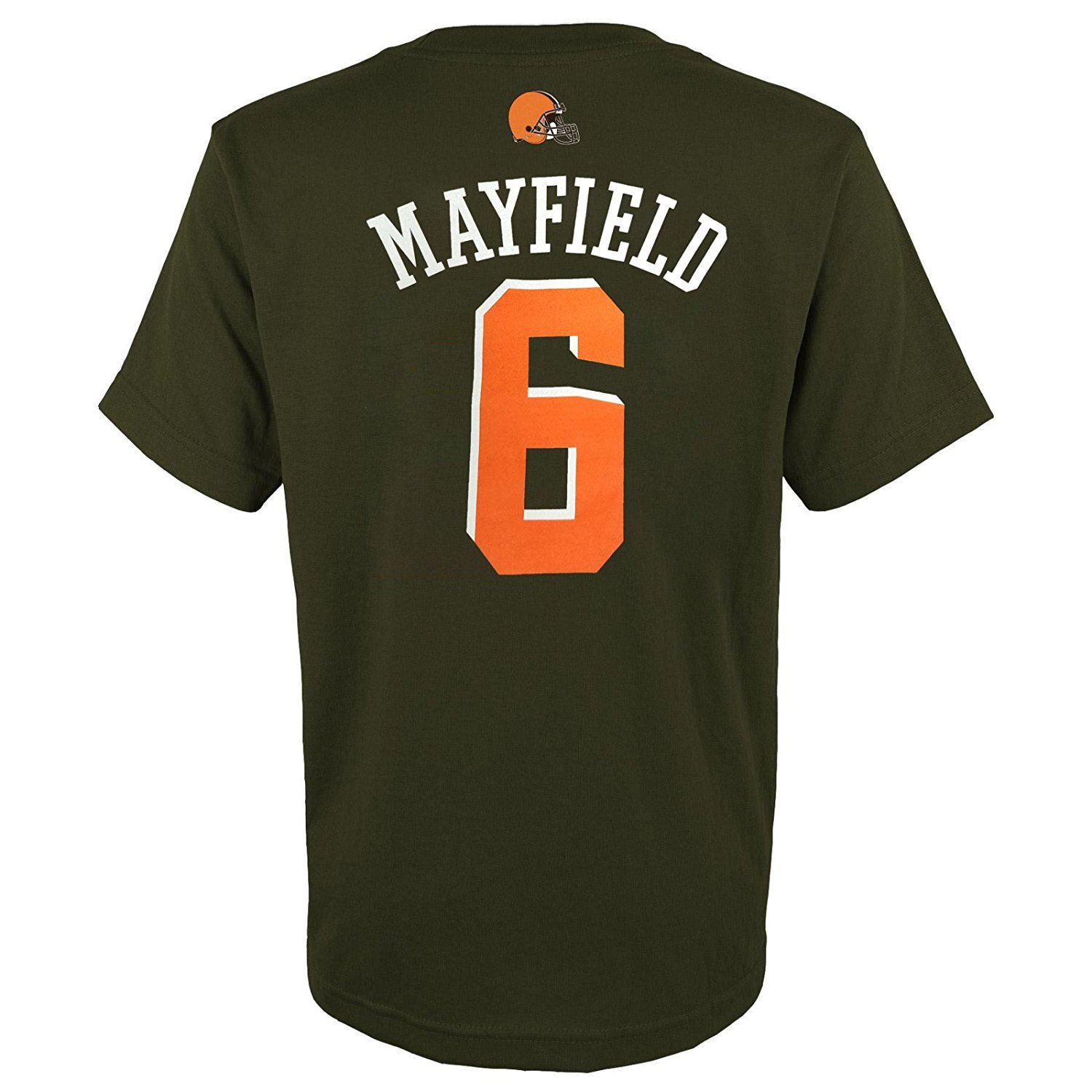 4aa142c74 Amazon.com   OuterStuff Baker Mayfield Cleveland Browns  6 Brown Youth Name    Number T-Shirt   Sports   Outdoors