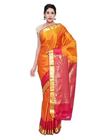 a69b057fc7 Image Unavailable. Image not available for. Colour: CLASSICATE From the  house of The Chennai Silks Women's Silk Saree With Blouse ...