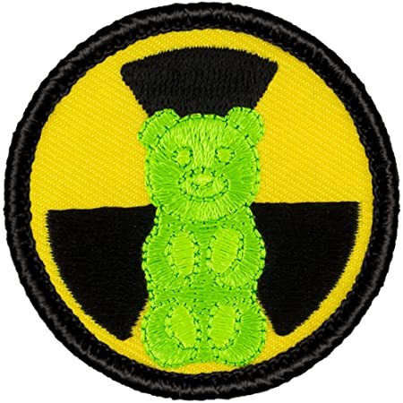 """Nuclear Gummy Bear Patrol Patch - 2"""" Diameter Round Embroidered Patch"""
