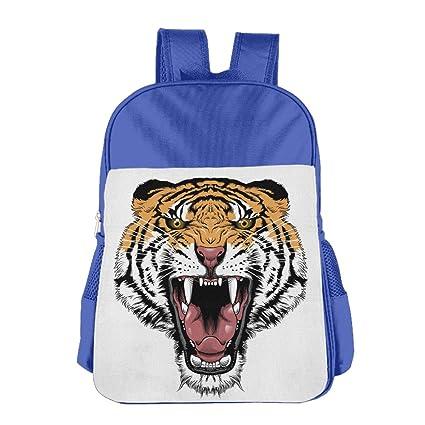Tiger Face Angry nuevo estilo Kid de hombro mochila bolso de escuela Mochila escolar hombro mochila