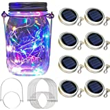 Vinkki Solar Mason Jar Lid Lights 8 Pack 30 Led Solar String Light Waterproof Fairy Hanging Lighting Solar Lids Jar Lights wi