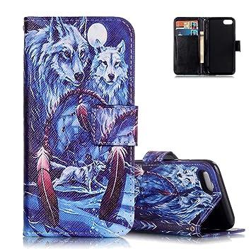 28ca4c660e iphone8 ケース 手帳型 iphone7 手帳型カバー Aeeque オオカミ PUレザー カードポッケト ストラップホール