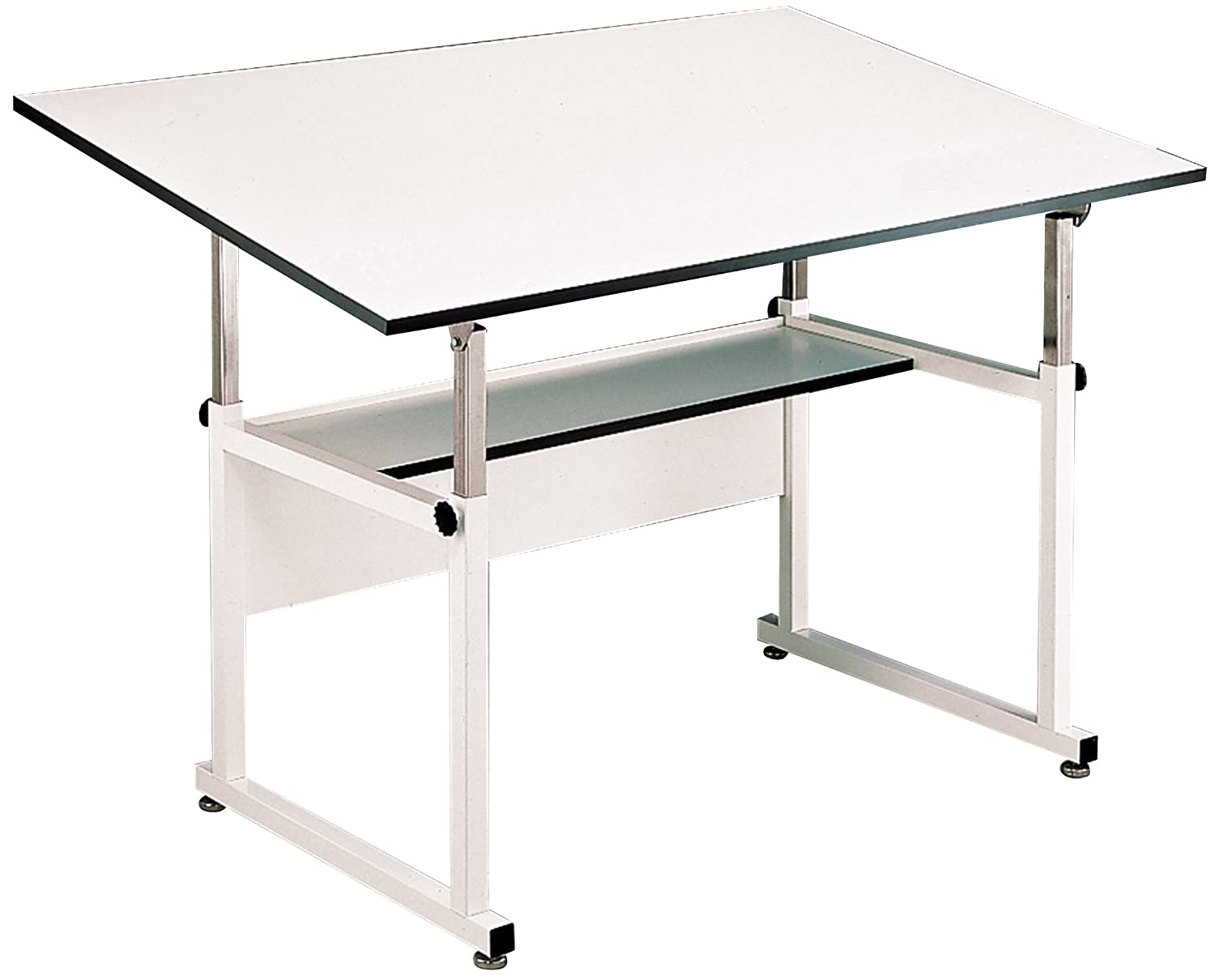 Alvin WM60-4-XB WorkMaster Table - White Base White Top 37 1-2 inches x 60 inches