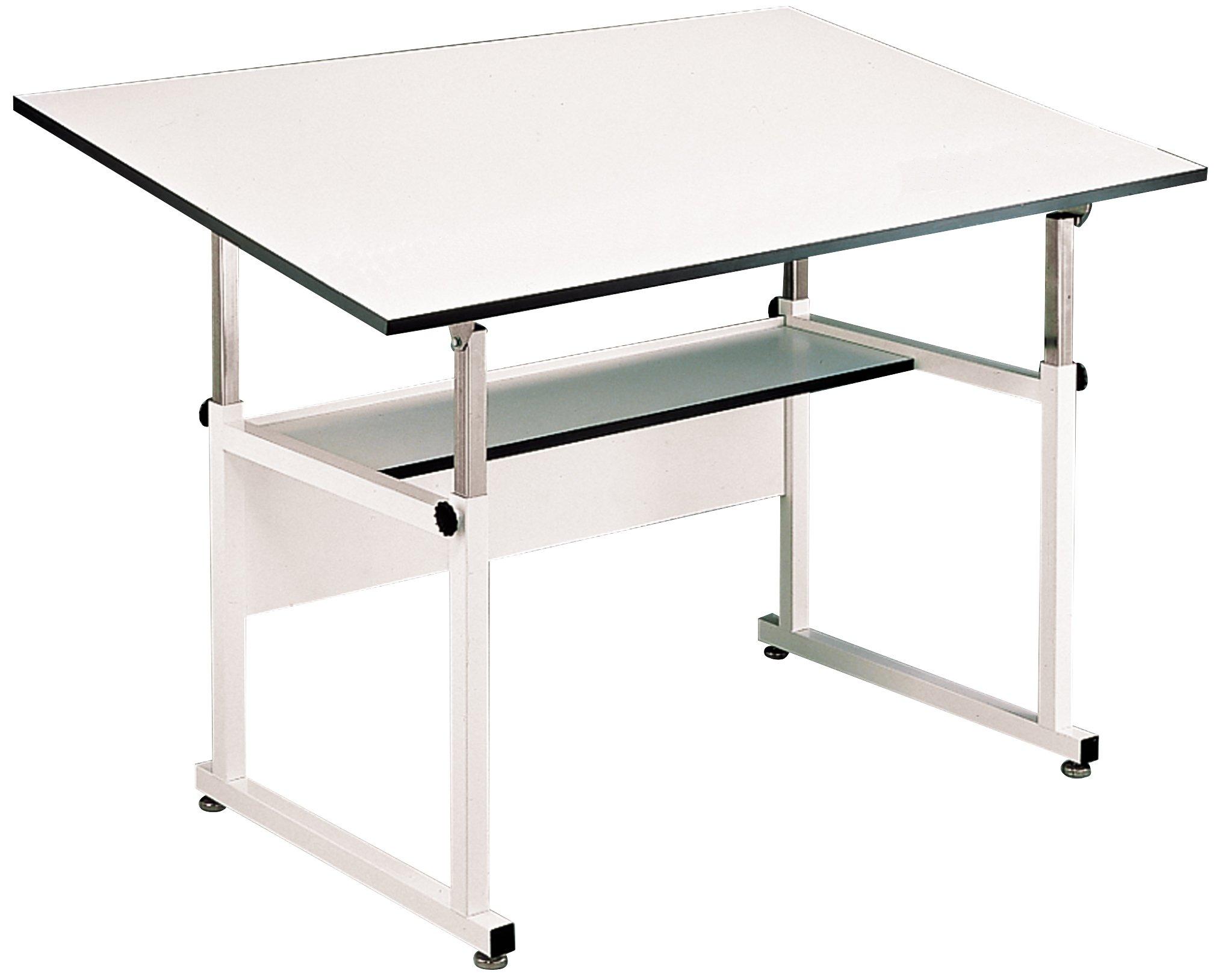 Alvin WM72-4-XB WorkMaster Table, White Base White Top 37 1/2 inches x 72 inches