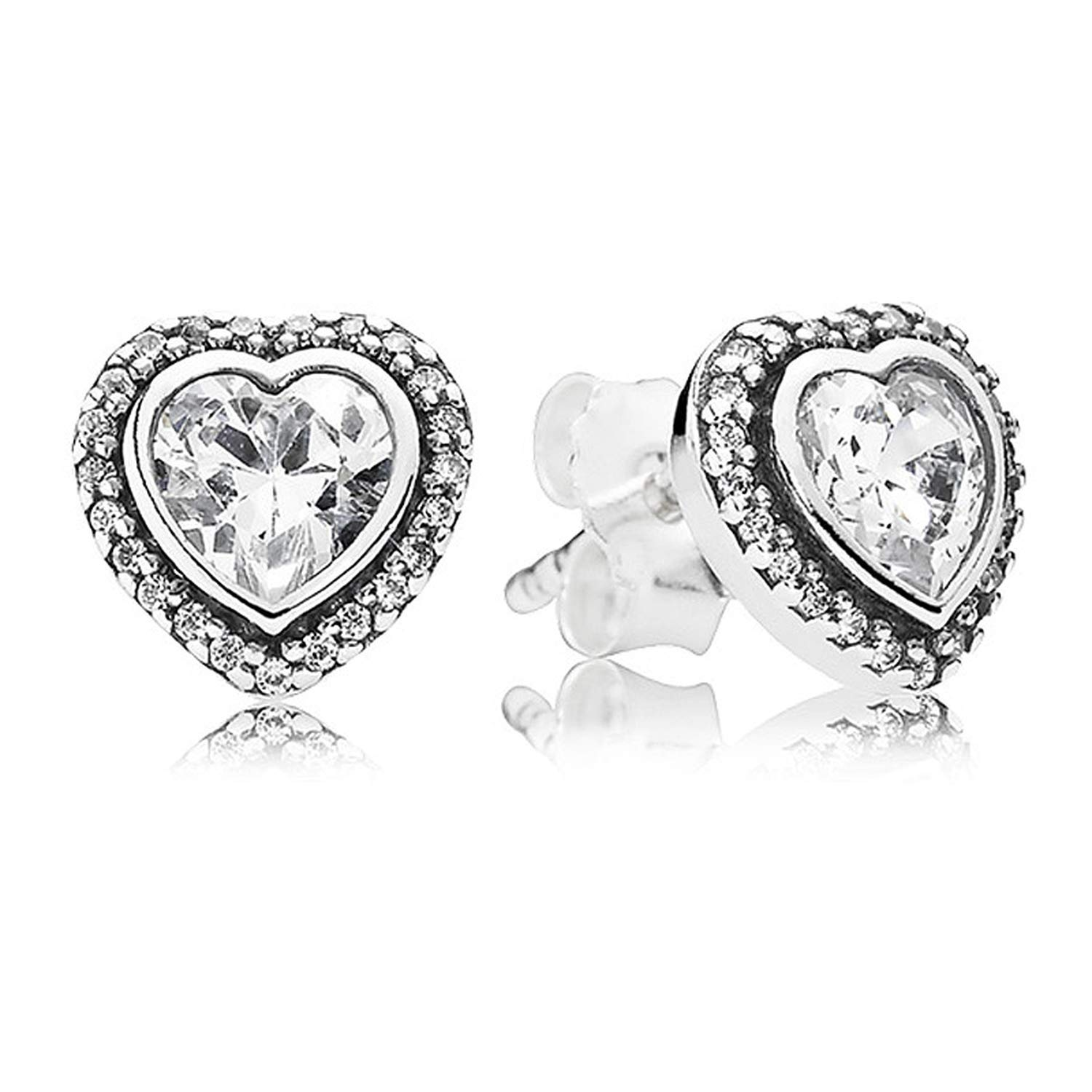 Sparkling Love Knot Petals Of Love 925 Sterling Silver Earrings Studs For Women Wedding Party Gift
